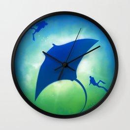 Blue Manta Wall Clock