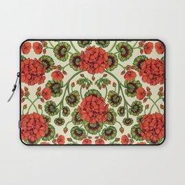 Red Geraniums -  Vintage-Inspired Floral Pattern For Spring Laptop Sleeve