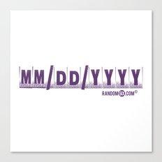 MM/DD/YYYY Canvas Print