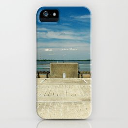sunny day on the lake iPhone Case