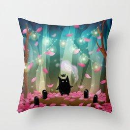 Shadow Tales: April Throw Pillow