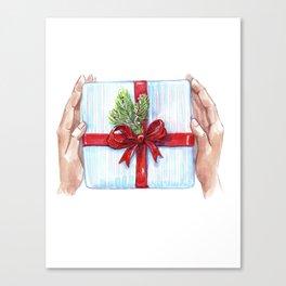 Cadeau du Nouvel An pour les proches. Canvas Print