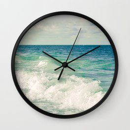 Tropical Beach Bliss Wall Clock