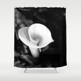 Cala Lilly Spiral Flower Shower Curtain