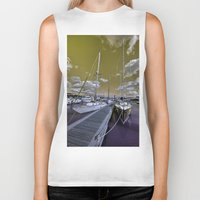 marina Biker Tanks featuring Cowes Marina  by Rob Hawkins Photography