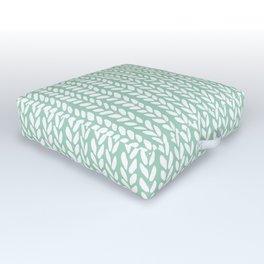 Knit Wave Mint Outdoor Floor Cushion