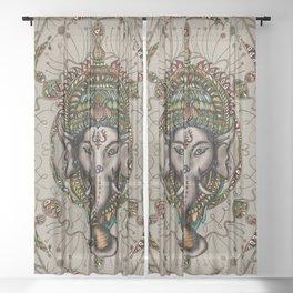 Lord Ganesha - Canvas Lord Ganesha - Canvas Sheer Curtain
