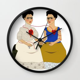Ladies the two fridas Wall Clock