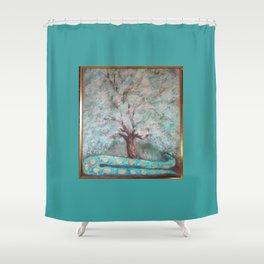 Tree & Snake Shower Curtain
