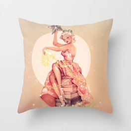 """the star"" Throw Pillow"