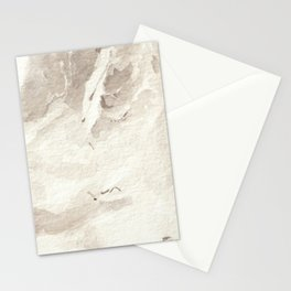 Clear Quartz Crystal Watercolor Stationery Cards