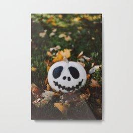 Jack Skeleton Pumpkin Metal Print
