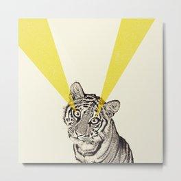 beam me up tiger Metal Print
