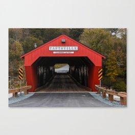 Vermont Covered Bridge Reborn Canvas Print