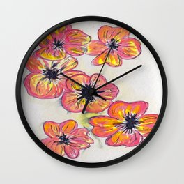Childhood Series: Poppies (Featuring Specially Enhanced Shirt/Hoodie Design) Wall Clock