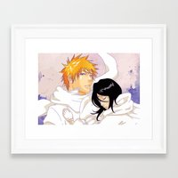 bleach Framed Art Prints featuring Bleach: Ichigo X Rukia by Neo Crystal Tokyo