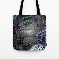persona Tote Bags featuring Persona Tarot Cards by KeenaKorn
