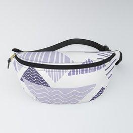 triangle geometric purple Fanny Pack
