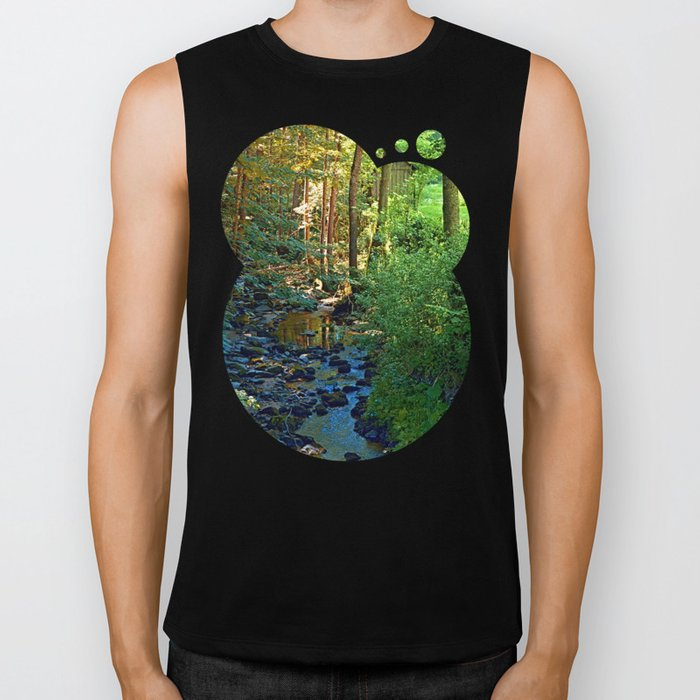 Forest, a river, a valley and summertime Biker Tank