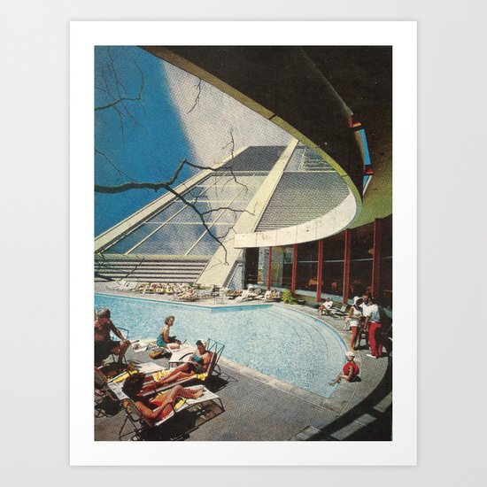 The flying Architecture Art Print