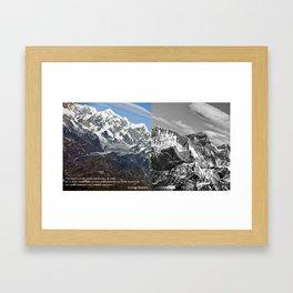 MOUNT EVEREST 003 Framed Art Print
