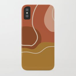 Abstract Organic Shapes in Zen Desert Color  iPhone Case