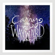 supernatural carry on my wayward son Art Print