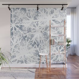Abstract Blizzard: Snow in a Whiteout Wall Mural