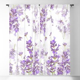 Lavender Bouquets On White Background #decor #society6 #buyart Blackout Curtain