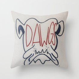 GO DAWGS Throw Pillow
