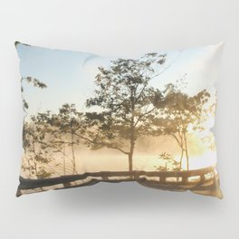 Sunrise over the lake Pillow Sham