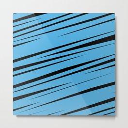 Blue Scribble Metal Print