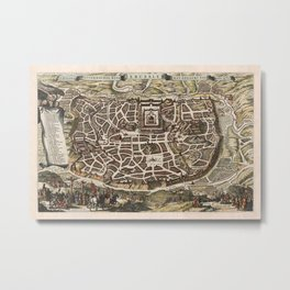 Map Of Jerusalem 1643 Metal Print