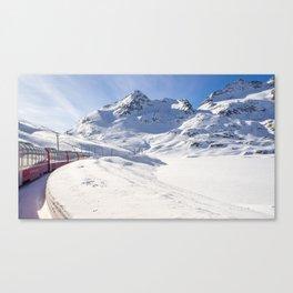 Bernina Express. Canvas Print