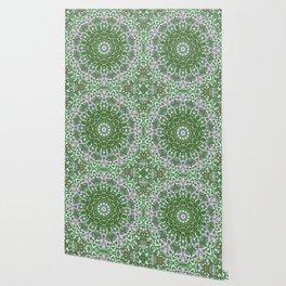 Her Mermaid Sea Kaleido Green Wallpaper