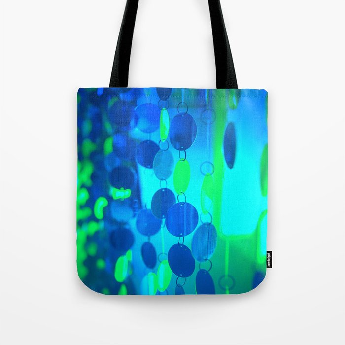 UNDERWATER GLAM CIRCLES #Blue #2 Tote Bag