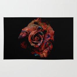Fluid Nature - Marbled Red Rose Rug