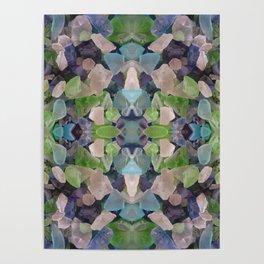 Sea glass mosaic Poster