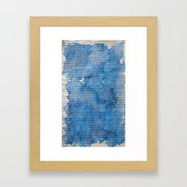 Deep Blues Framed Art Print