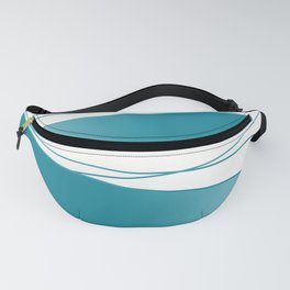White and blue Fanny Pack