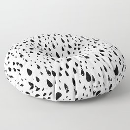 Polka rain drops Floor Pillow