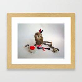 Tokoda owl totem Framed Art Print