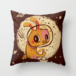 Jade Rabbit Throw Pillow