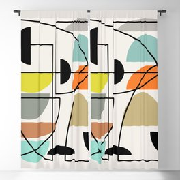 "Mid Century Modern ""Bowls"" Blackout Curtain"