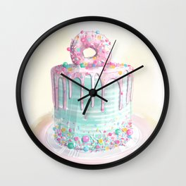 @theflourgirl_ Pink Donut Cake Wall Clock