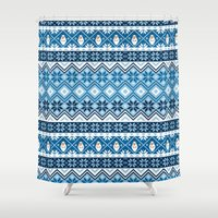 olaf Shower Curtains featuring Olaf Nordic Print by GwenILLustrates