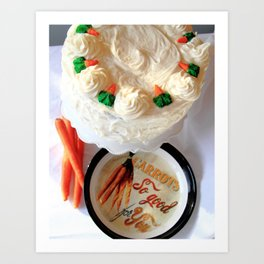 Craving Carrot Cake Art Print