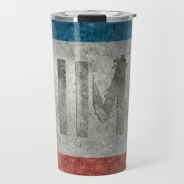 The National flag of Crimea - Vintage version with text reading Crimea  Travel Mug