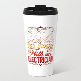 In love with Electrician Travel Mug