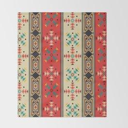 Navajo style pattern Throw Blanket